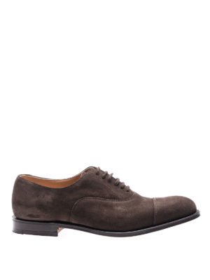 Church's: classic shoes - Dubai brown suede Oxford shoes