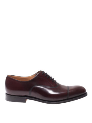CHURCH'S: classiche - Stringate Oxford Dubai in pelle bordeaux