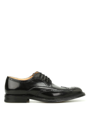 Church's: classic shoes - Munich leather Derby brogues