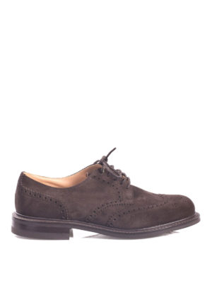 Church's: classic shoes - Newark suede Derby brogue shoes
