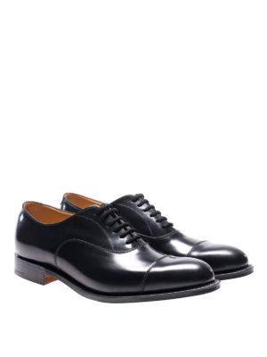 Church's: classic shoes online - Dubai black leather Oxford shoes