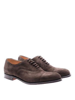 Church's: classic shoes online - Dubai brown suede Oxford shoes