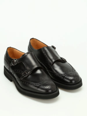 Church's: classic shoes online - Kelby Rois calf leather monkstraps