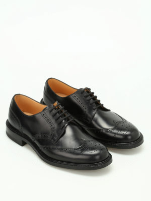 Church's: classic shoes online - Newark leather Derby brogues