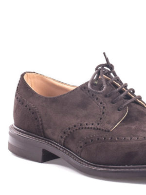 Church's: classic shoes online - Newark suede Derby brogue shoes