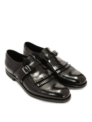 Church's: classic shoes online - POLISH LEATHER FRINGE MONK STRAPS