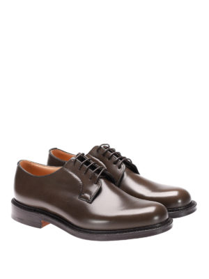 Church's: classic shoes online - Shannon glossy leather Derby shoes