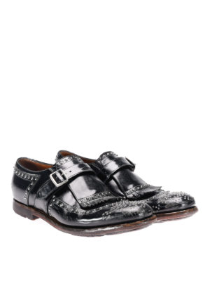 Church's: classic shoes online - Studded vintage leather monk straps