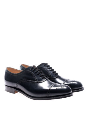 Church's: classic shoes online - Toronto navy leather brogue shoes