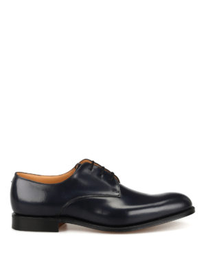 CHURCH'S: classiche - Scarpa Derby Oslo blu