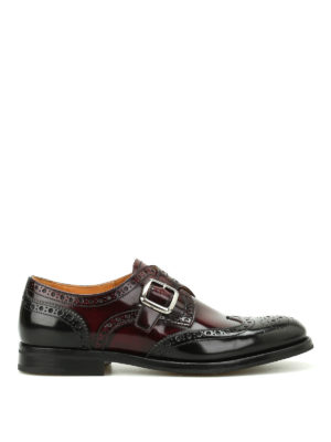 CHURCH'S: classiche - Monk strap Pattie in pelle sfumata