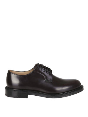 CHURCH'S: classiche - Derby Shannon in pelle vinaccio