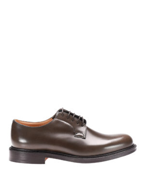 Church's: classic shoes - Shannon glossy leather Derby shoes