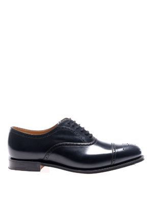 Church's: classic shoes - Toronto navy leather brogue shoes