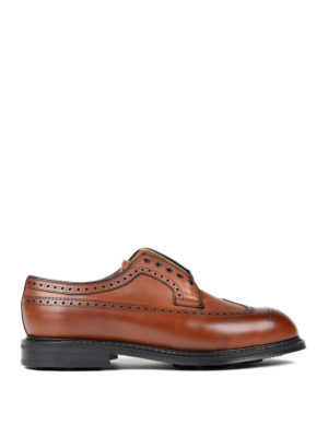 Church's: lace-ups shoes - Brogue detailed Derby walnut shoes