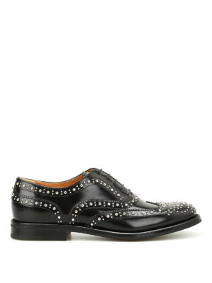 CHURCH'S: scarpe stringate - Stringate Burwood Met con borchie