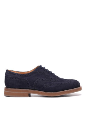 Church's: lace-ups shoes - Downton suede lace-ups