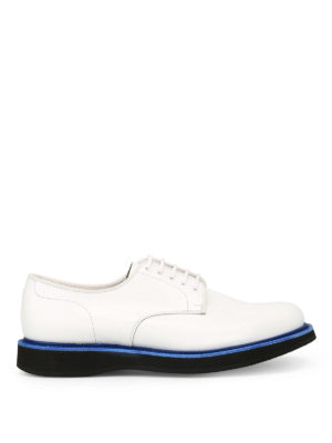 CHURCH'S: scarpe stringate - Derby Leyton 5 in pelle liscia