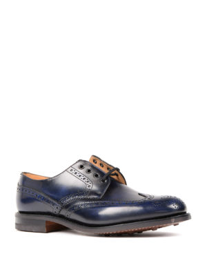Church's: lace-ups shoes online - Brogue detailed Derby blue shoes