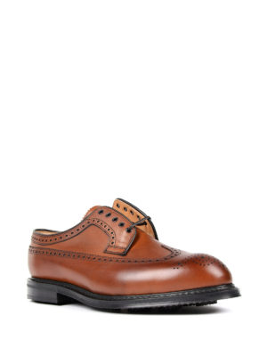 Church's: lace-ups shoes online - Brogue detailed Derby walnut shoes