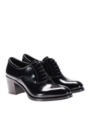 Church's: lace-ups shoes online - Heeled polished fumé leather Oxford