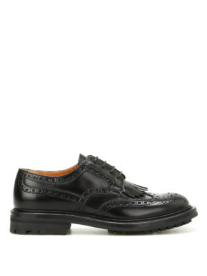 CHURCH'S: scarpe stringate - Derby brogue Priscilla con frangia