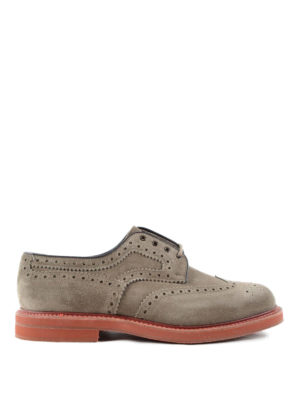 Church's: lace-ups shoes - Riverton suede brogue shoes