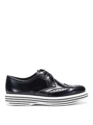 CHURCH'S: scarpe stringate - Derby brogue con suola a righe