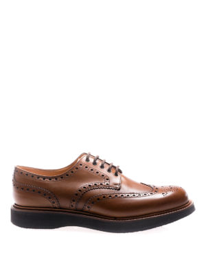 Church's: lace-ups shoes - Tewin calfskin brogue Derby shoes