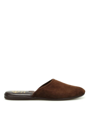 Church's: Loafers & Slippers - Air Travel suede slippers