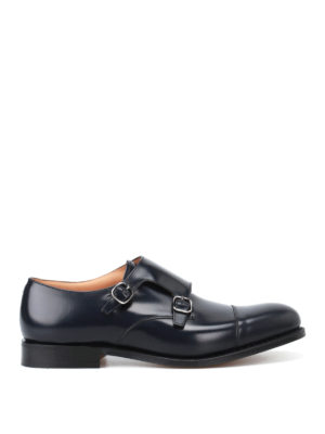 Church's: Loafers & Slippers - Detroit smooth leather monk strap