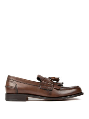 Church's: Loafers & Slippers - Fringe and tassel leather loafers