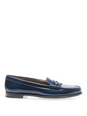 Church's: Loafers & Slippers - Kara blue brushed leather loafers