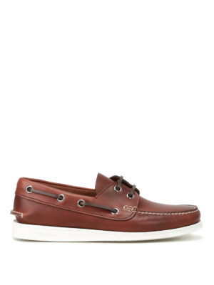 Church's: Loafers & Slippers - Marske leather boat slippers