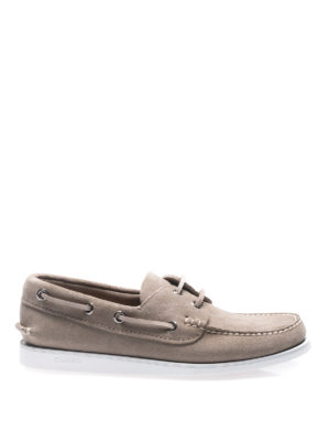 Church's: Loafers & Slippers - Marske stone suede boat shoes