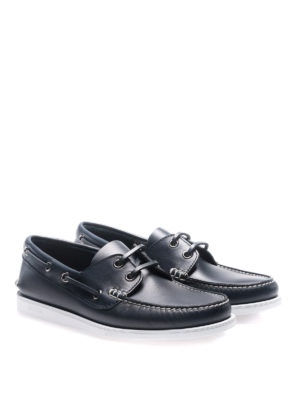 Church's: Loafers & Slippers online - Blue leather boat shoes