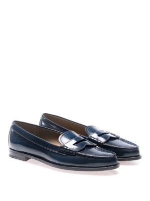 Church's: Loafers & Slippers online - Kara blue brushed leather loafers