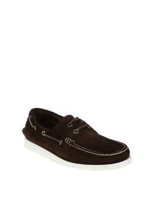 Church's: Loafers & Slippers online - Marske brown suede boat shoes