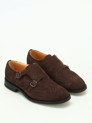 Church's: Loafers & Slippers online - Seaforth suede brogue monk straps