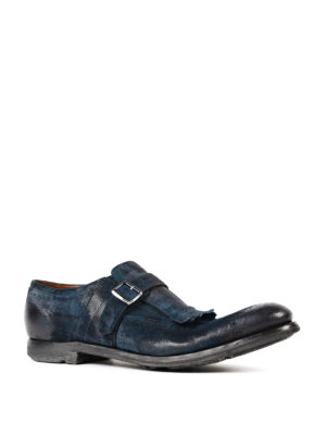 Church's: Loafers & Slippers online - Shanghai blue leather monk-strap