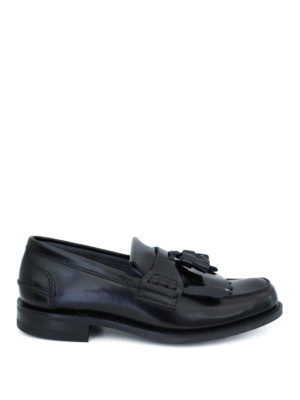 Church's: Loafers & Slippers - Oreham leather loafers with fringe