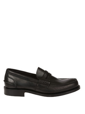 Church's: Loafers & Slippers - Pembrey black leather loafers