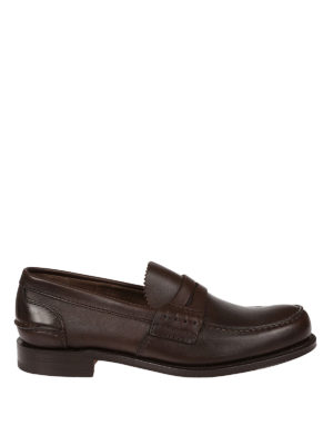 Church's: Loafers & Slippers - Pembrey brown leather loafers