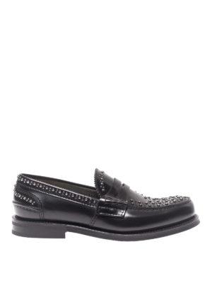 CHURCH'S: Mocassini e slippers - Mocassini Pembrey in pelle con borchiette