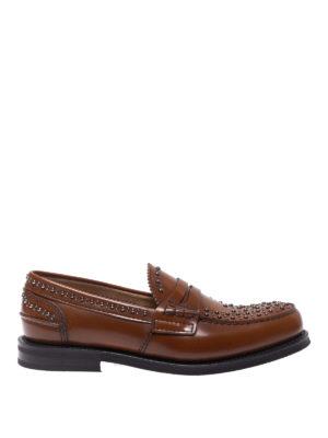 CHURCH'S: Mocassini e slippers - Mocassini Pembrey in pelle con borchie
