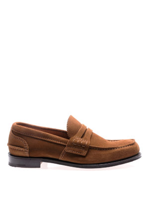 Church's: Loafers & Slippers - Pembrey tabac suede loafers