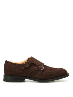 Church's: Loafers & Slippers - Seaforth suede brogue monk straps
