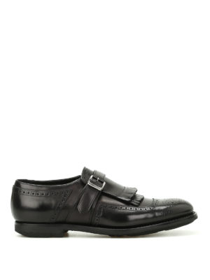Church's: Loafers & Slippers - Shanghai leather brogue monk straps