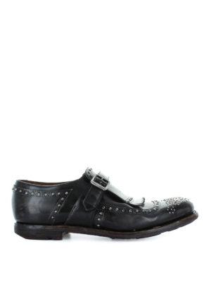 CHURCH'S: Mocassini e slippers - Mocassini Shanghai in pelle vintage