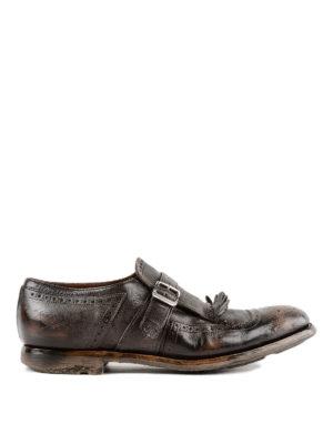 CHURCH'S: Mocassini e slippers - Monk strap Shanghai in pelle vintage
